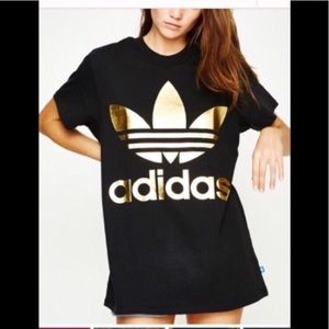 adidas Tops - 🆕Adidas Originals Big Trefoil Tee Black & Gold S